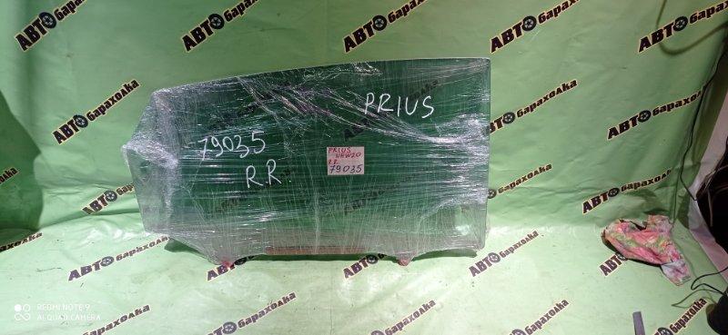 Стекло двери Toyota Prius NHW20 1NZ-FXE 2007 заднее правое