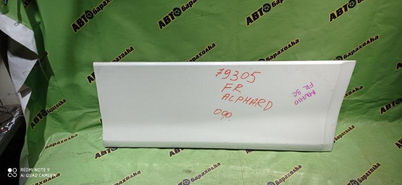 Накладка на дверь Toyota Alphard MNH10 1MZ-FE 2005 передняя правая