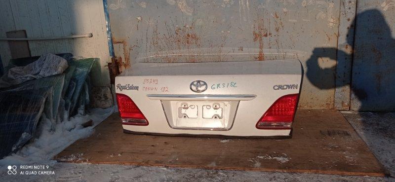 Крышка багажника Toyota Crown GRS182 3GR-FSE 2004 задняя