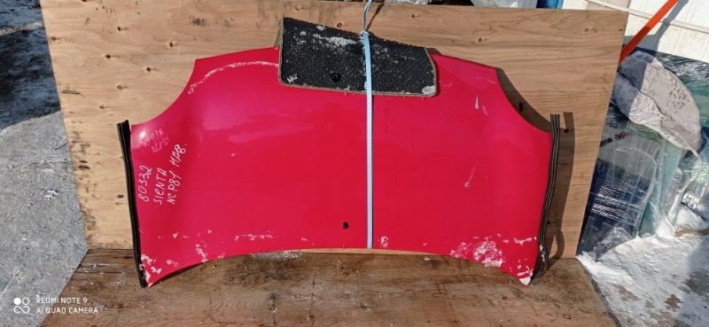 Капот Toyota Sienta NCP81 1NZ-FE передний