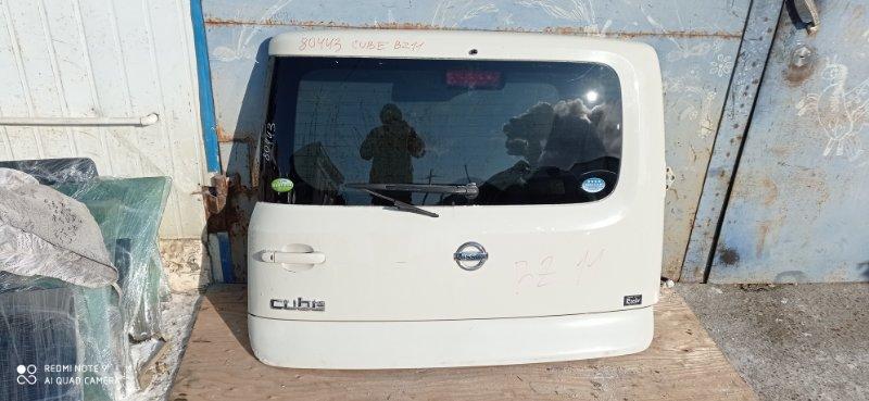 Дверь 5-я Nissan Cube BZ11 CR14 2006 задняя