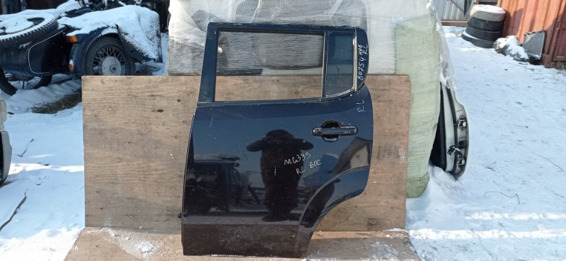 Дверь Nissan Moco MG33S R06A 2012 задняя левая