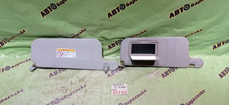 Козырек солнцезащитный Mitsubishi Pajero Io H76W 4G93 1998 передний