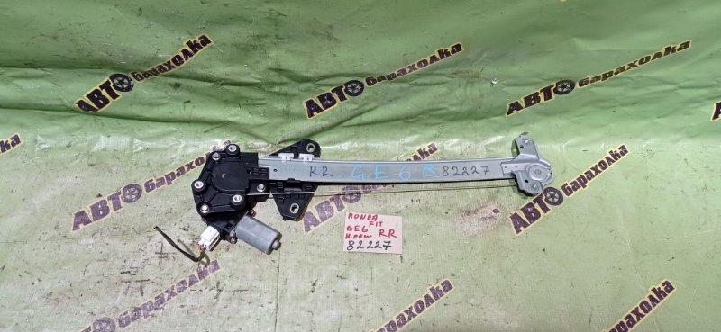 Стеклоподъемник Honda Fit GE6 L13A 2008 задний правый
