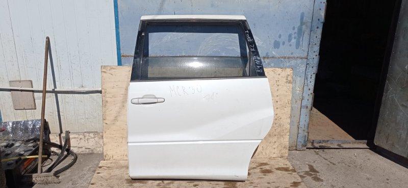 Дверь боковая (раздвижная) Toyota Estima MCR30 1MZ-FE 2003 задняя левая