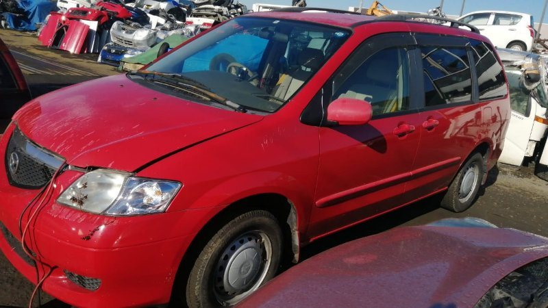 Стекло двери Mazda Mpv LW3W L3 2002 переднее левое