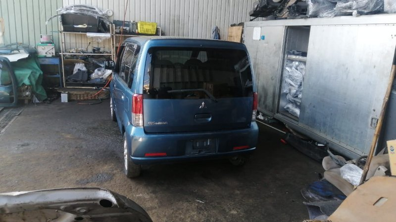 Дверь 5-я Mitsubishi Ek Wagon H81W 3G83 2003 задняя