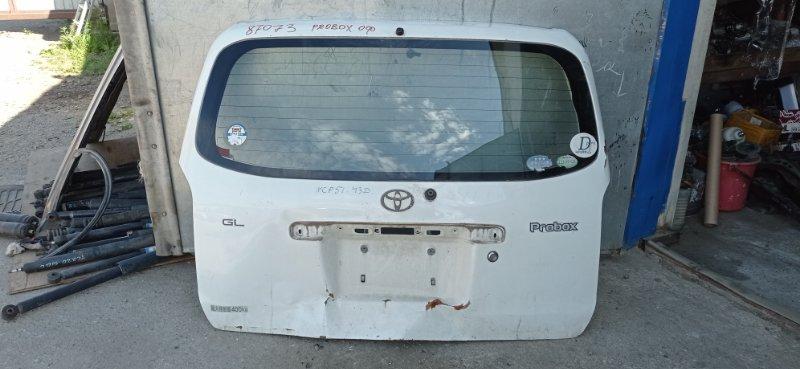 Стекло 5-й двери Toyota Probox NCP51 1NZ-FE 2005 заднее