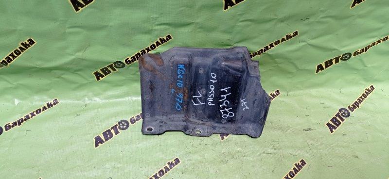 Защита двигателя Toyota Passo KGC10 1KR-FE 2008 передняя левая