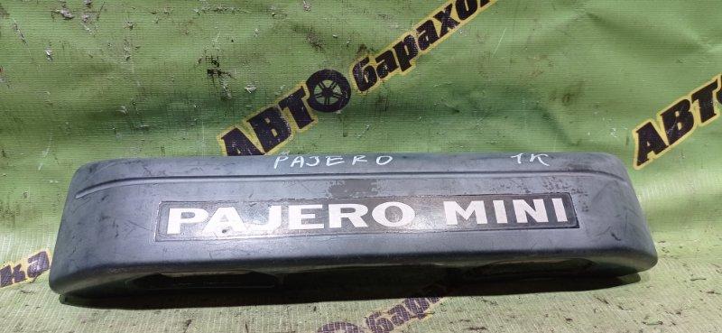 Накладка 5-й двери Mitsubishi Pajero Mini H53A 4A30 2002 задняя
