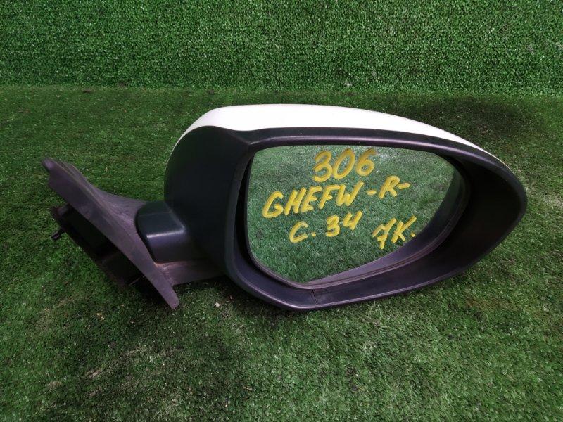 Зеркало Mazda Atenza GHEFW LFVD 2008 переднее правое (б/у)