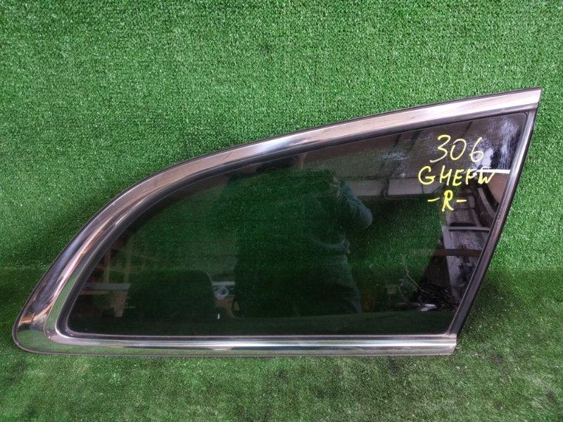 Стекло собачника Mazda Atenza GHEFW LFVD 2008 заднее правое (б/у)