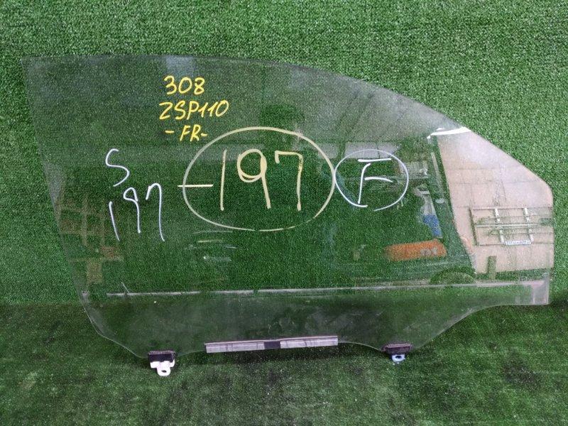 Стекло Toyota Ist ZSP110 2ZRFE 2008 переднее правое (б/у)