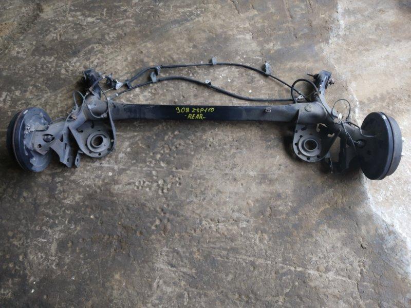 Балка подвески Toyota Ist ZSP110 2ZRFE 2008 задняя (б/у)