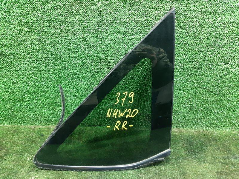 Стекло собачника Toyota Prius NHW20 1NZFXE 2006 заднее правое (б/у)