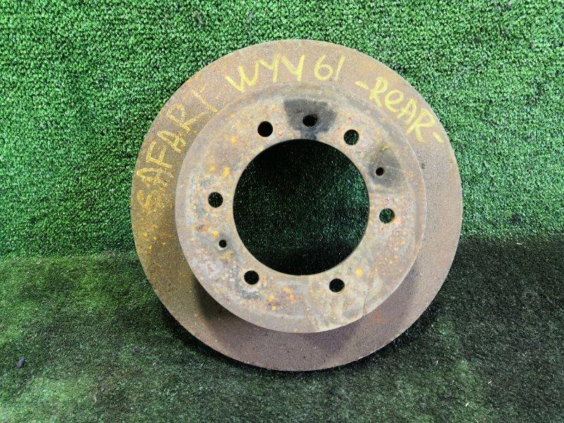 Тормозной диск Nissan Safari WYY61 RD28T задний левый (б/у)