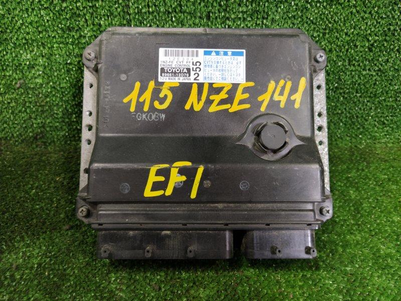 Блок управления efi Toyota Corolla Axio NZE141 1NZFE 2006 (б/у)