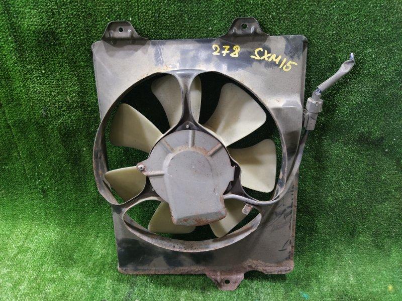 Вентилятор радиатора кондиционера Toyota Gaia SXM15 3SFE 2002 правый (б/у)