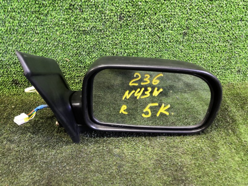 Зеркало Mitsubishi Chariot N43W 4G63 1995 переднее правое (б/у)