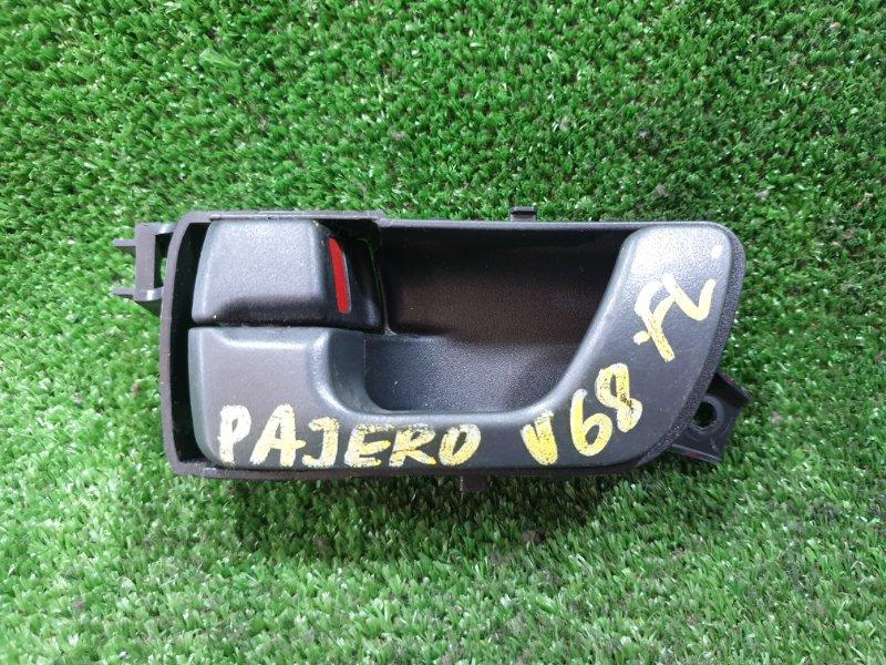 Ручка двери внутренняя Mitsubishi Pajero V63W 6G72 передняя левая (б/у)