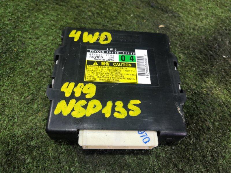 Блок управления 4wd Toyota Vitz NSP135 1NRFE 2011 (б/у)