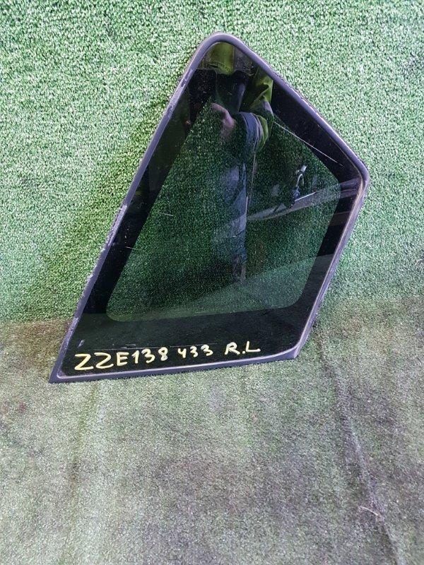 Стекло собачника Toyota Voltz ZZE138 1ZZFE 2002 заднее левое (б/у)