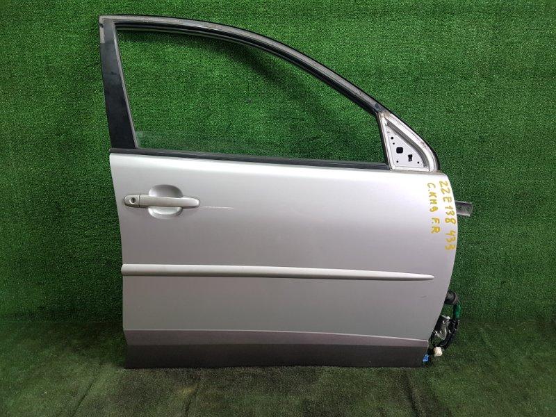 Дверь Toyota Voltz ZZE138 1ZZFE 2002 передняя правая (б/у)