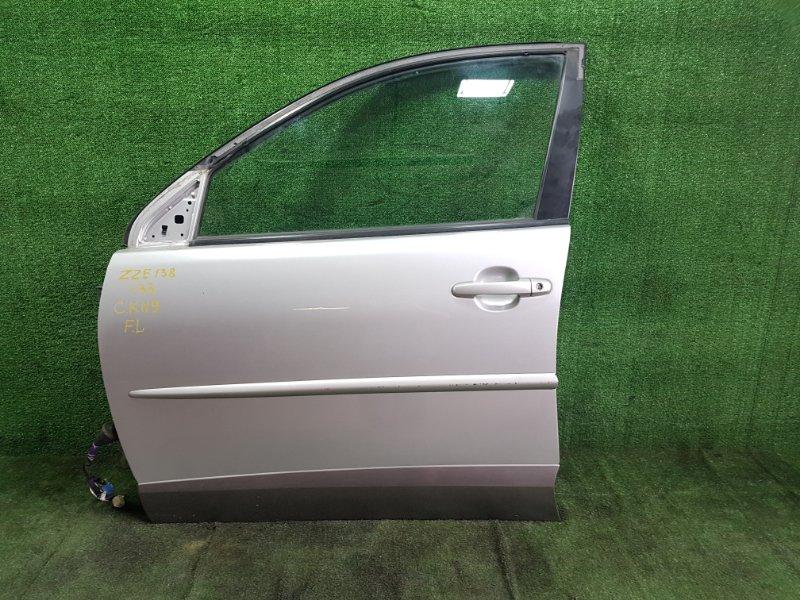 Дверь Toyota Voltz ZZE138 1ZZFE 2002 передняя левая (б/у)