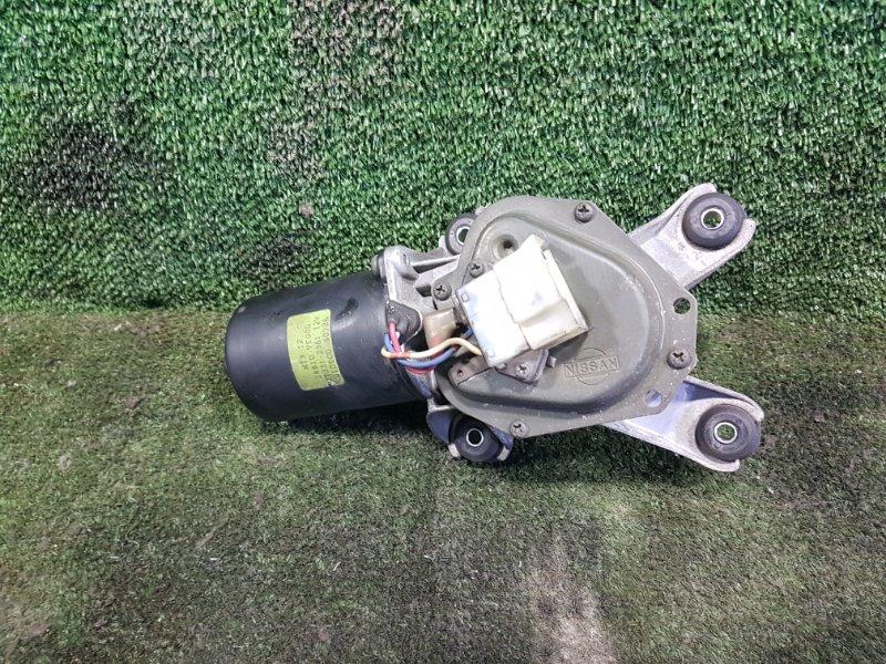 Мотор дворников Nissan Elgrand AVWE50 QD32ETI 1999 передний (б/у)