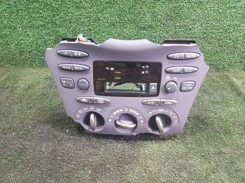 Блок управления климат-контролем Toyota Prius NHW11 1NZFXE 2001 передний (б/у)