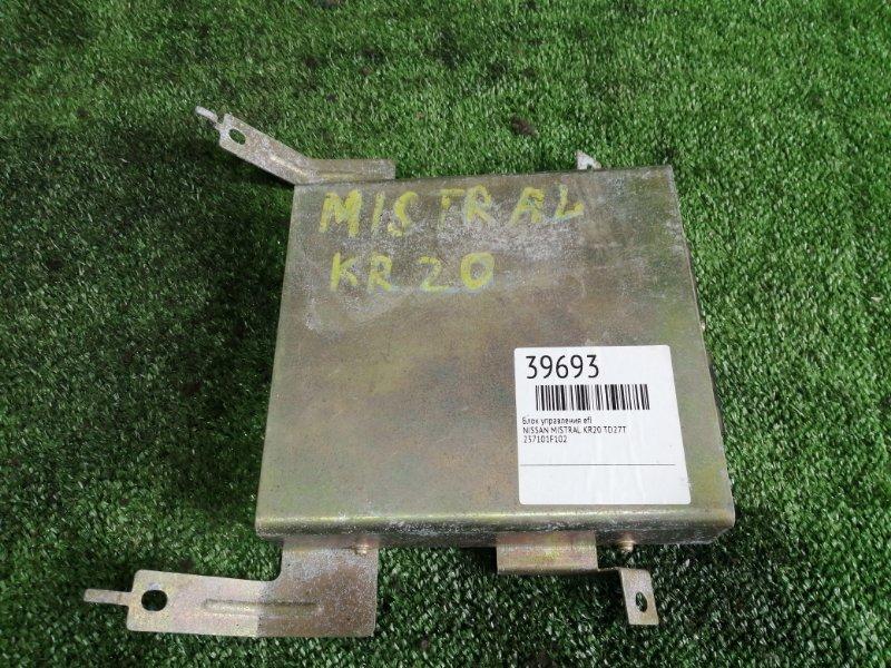 Блок управления efi Nissan Mistral R20 TD27T (б/у)