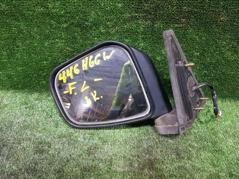 Зеркало Mitsubishi Pajero Io H66W 4G93 1998 переднее левое (б/у)