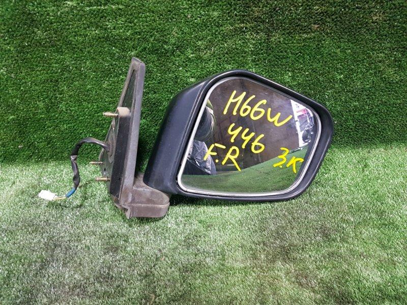 Зеркало Mitsubishi Pajero Io H66W 4G93 1998 переднее правое (б/у)