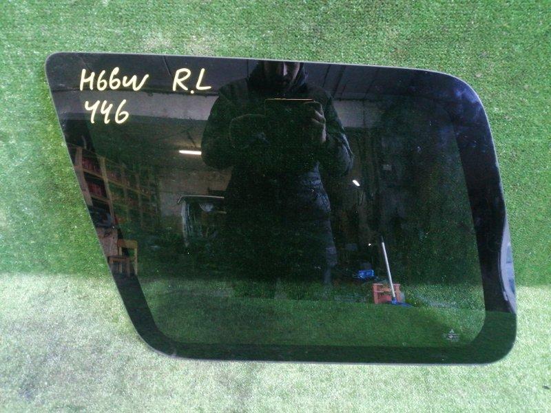 Стекло собачника Mitsubishi Pajero Io H66W 4G93 1998 заднее левое (б/у)