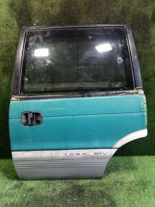 Дверь Mitsubishi Rvr N23WG 4G63 1993 задняя левая (б/у)