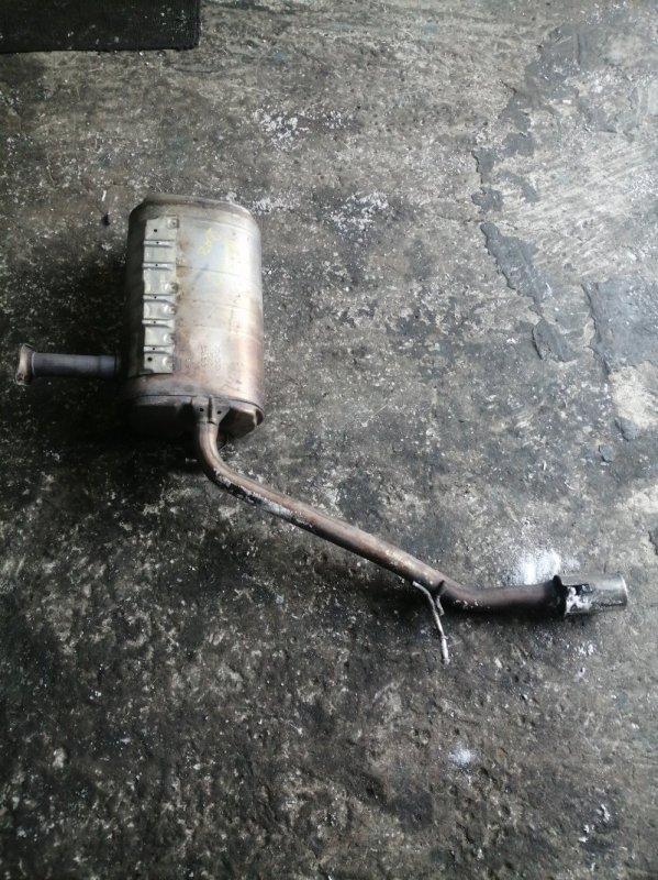 Бочка глушителя Toyota Estima ACR50 2AZFE 2006 задняя (б/у)