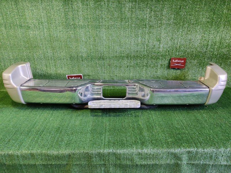 Бампер Mitsubishi Pajero V43W 6G72 1991 задний (б/у)
