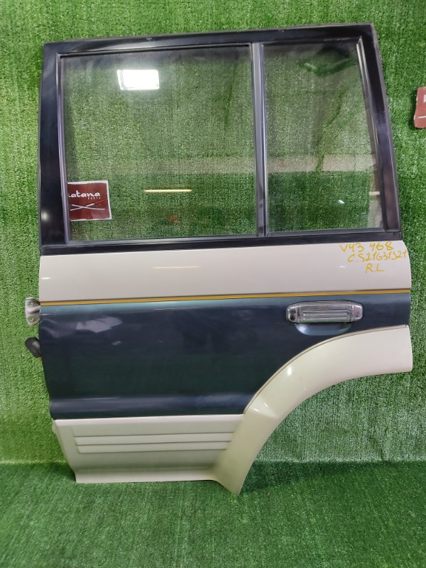 Дверь Mitsubishi Pajero V43W 6G72 1991 задняя левая (б/у)