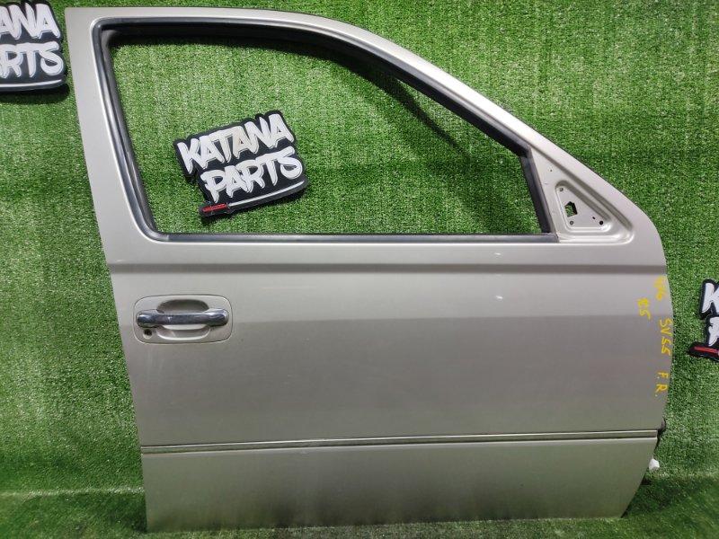 Дверь Toyota Vista SV55 3SFE 2001 передняя правая (б/у)