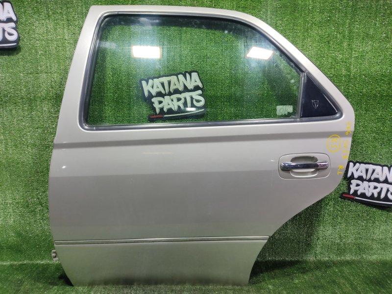 Дверь Toyota Vista SV55 3SFE 2001 задняя левая (б/у)