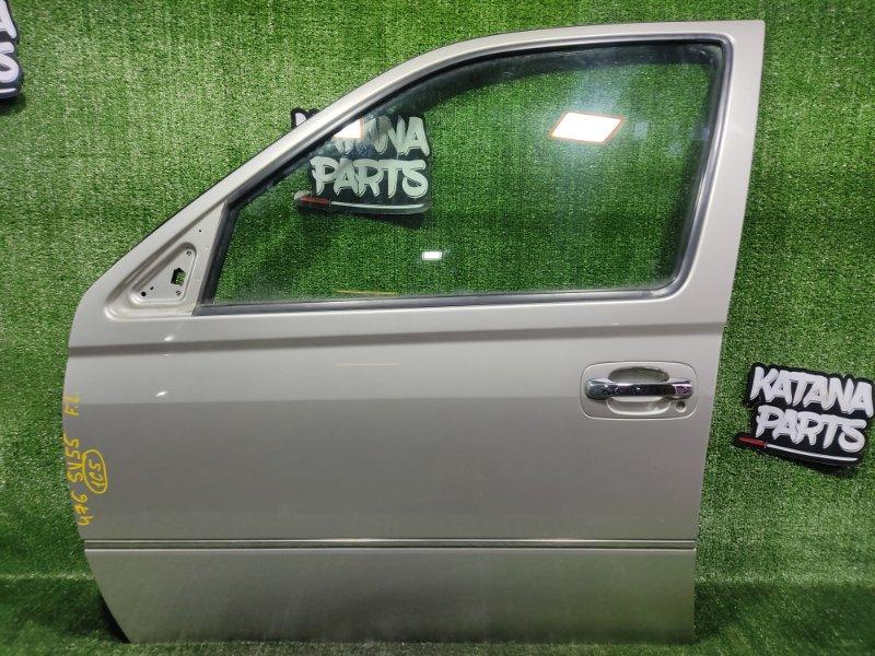 Дверь Toyota Vista SV55 3SFE 2001 передняя левая (б/у)