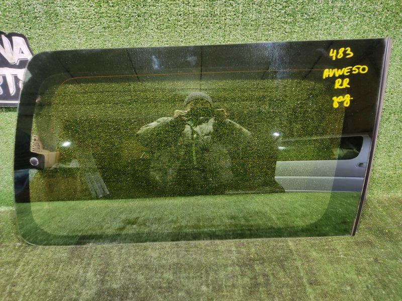 Стекло собачника Nissan Elgrand AVWE50 QD32ETI 1998 заднее правое (б/у)