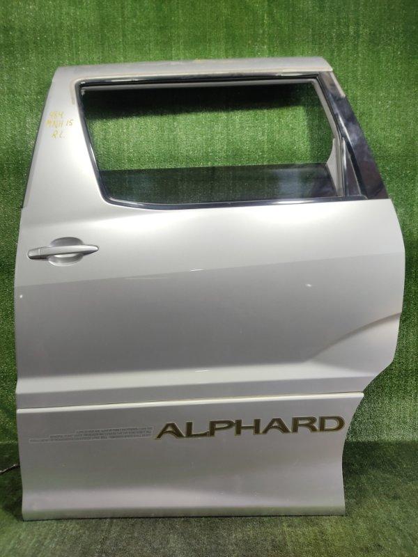 Дверь Toyota Alphard MNH15 1MZFE 2002 задняя левая (б/у)