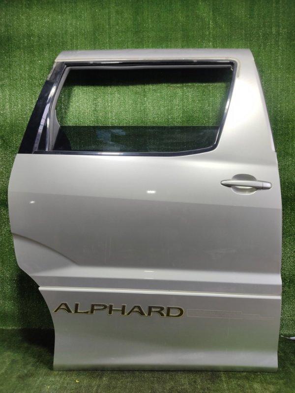 Дверь Toyota Alphard MNH15 1MZFE 2002 задняя правая (б/у)