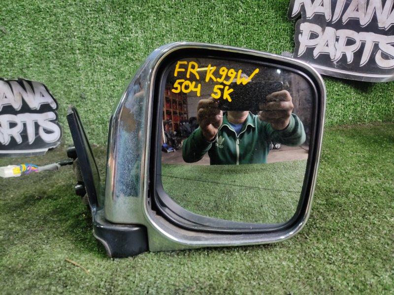 Зеркало Mitsubishi Challenger K99W 6G74 1998 переднее правое (б/у)