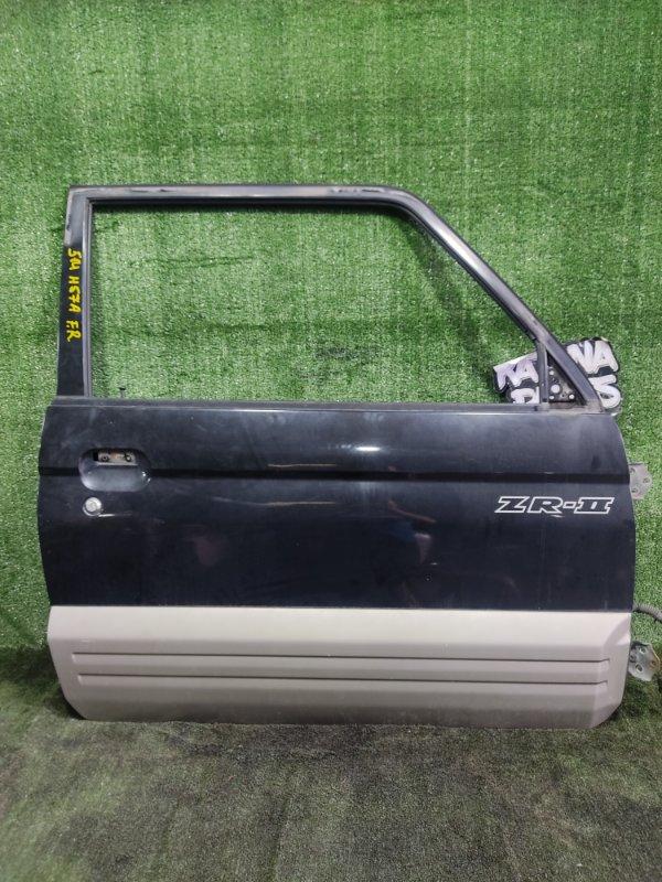 Дверь Mitsubishi Pajero Junior H57A 4A31 1996 передняя правая (б/у)