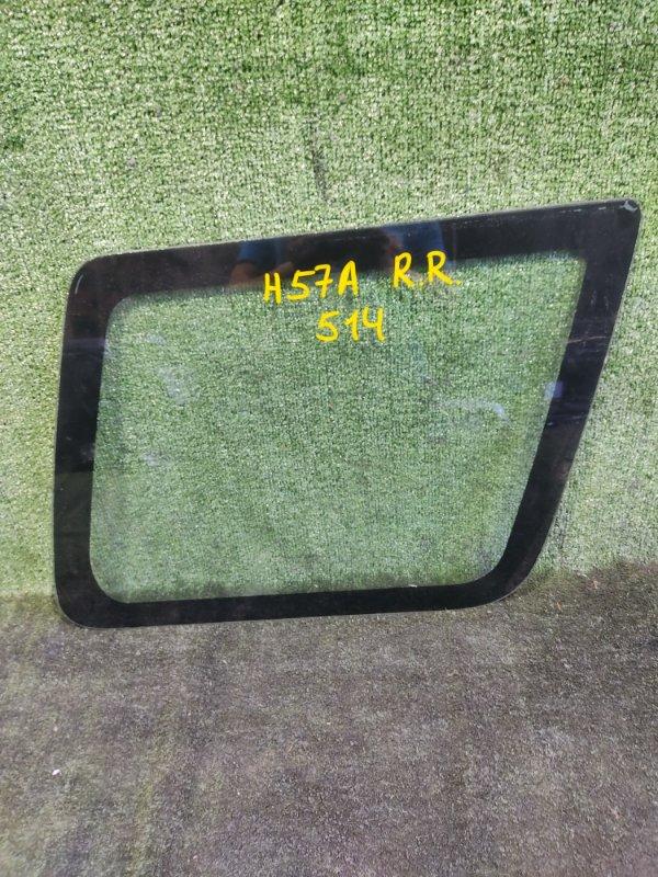 Стекло собачника Mitsubishi Pajero Junior H57A 4A31 1996 заднее правое (б/у)