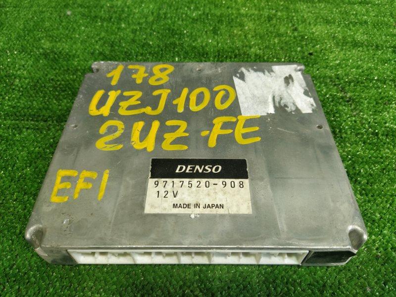 Блок управления efi Toyota Land Cruiser UZJ100 2UZFE 2001 (б/у)