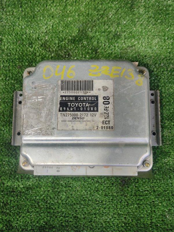 Блок управления efi Toyota Voltz ZZE138 1ZZFE 2002 (б/у)