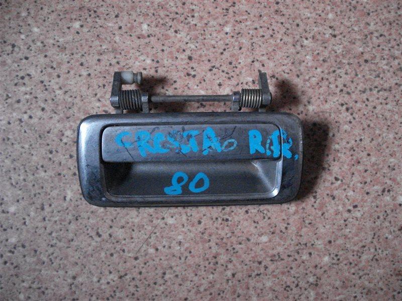 Ручка двери внешняя Toyota Cresta GX81 задняя правая